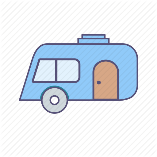 Camping, Caravan, Outing, Travel Icon