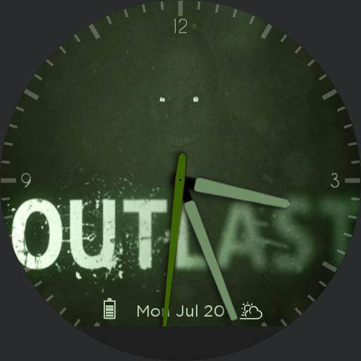 Outlast Official Watch Face For Moto
