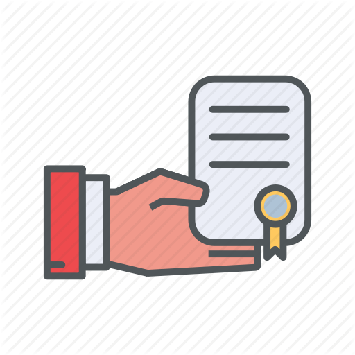 Certificate, Filled, Financial, Letter, Outline Icon