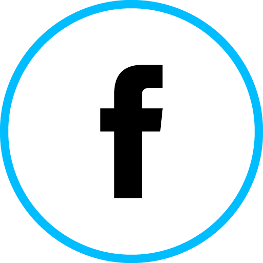 Facebook Free Social Media Blue Round Outline Icon Design