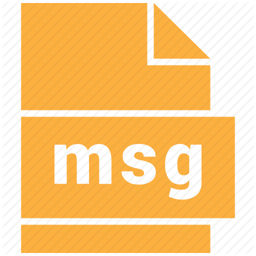 Document Format, Msg, Outlook Mail Message Icon