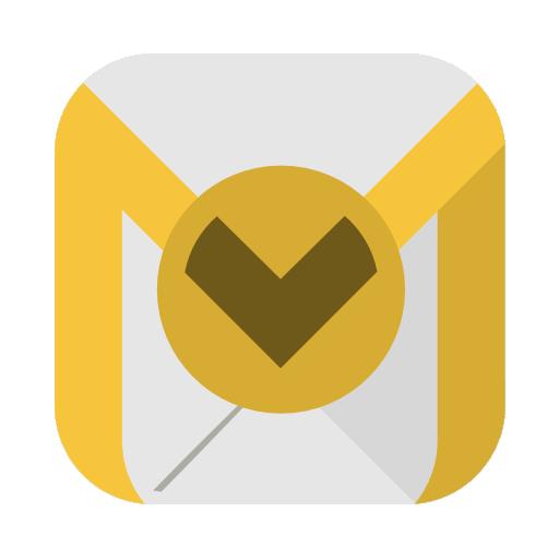 Communication Outlook Icon Squareplex Iconset