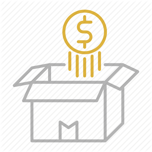 Box, Coin, Float, Money, Opened, Over Icon