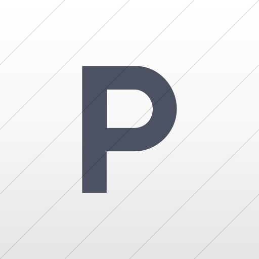 Flat Square Blue Gray On White Gradient Aiga Parking Icon