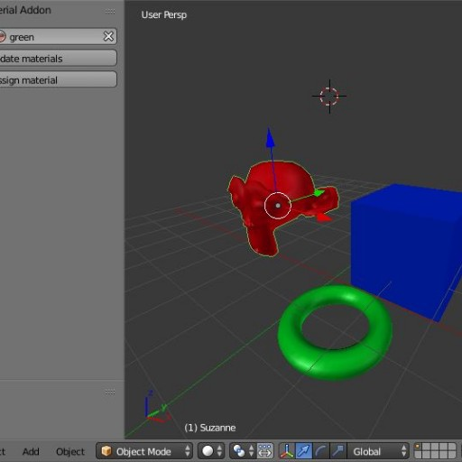 Addon Override A Material For A Group Or A Object Linked Blend