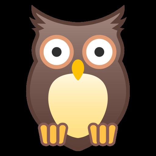 Owl Icon Noto Emoji Animals Nature Iconset Google