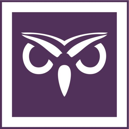 Cropped Sigma Pi Owl Icon Purple