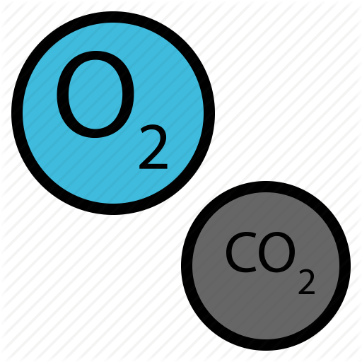 Air, Carbon, Dioxide, Nature, Oxygen Icon