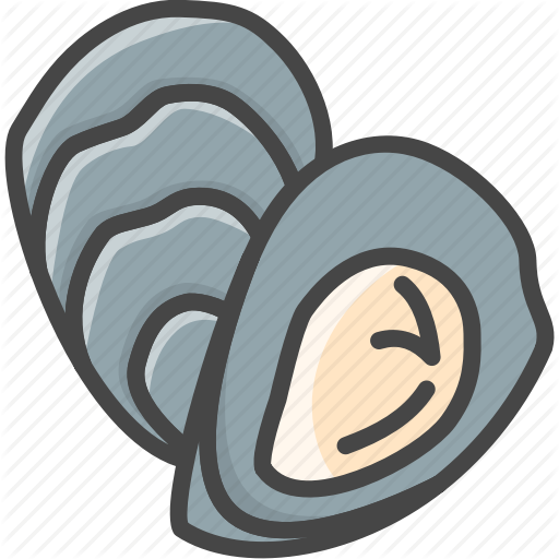 Filled, Fish, Food, Outline, Oyster, Seafood Icon