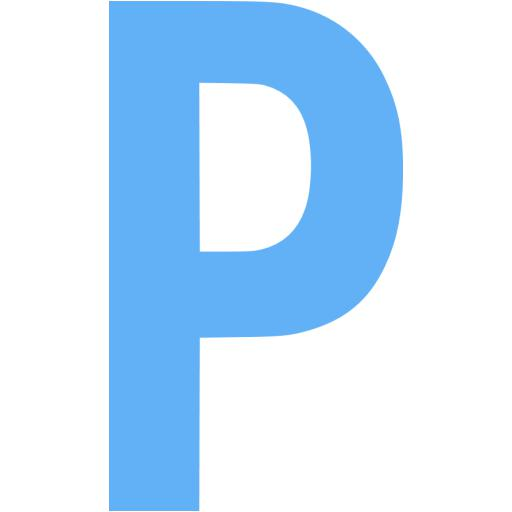 Tropical Blue Letter P Icon