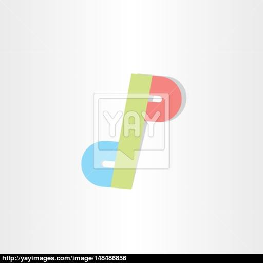 Letter D And P Icon Design Vector