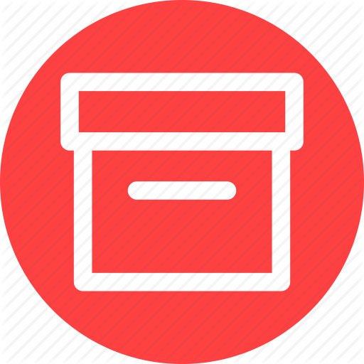 Archive, Box, Circle, Container, Document, Files, Package Icon