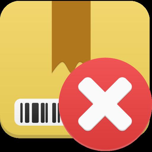 Package Delete Icon Flatastic Iconset Custom Icon Design
