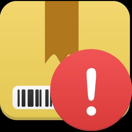 Package Warning Icon Flatastic Iconset Custom Icon Design