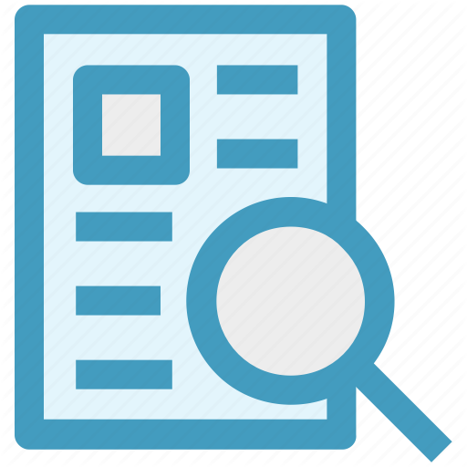 Analysis, File, Magnifier, Page, Search, Search