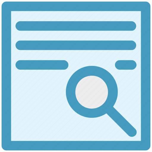 Contract, Magnifier, Page, Search, Search