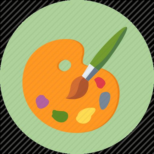 Colors, Design, Paint Brush, Palette Icon