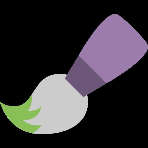 Paint Brush Tool Icon Flat Free Sample Iconset Squid Ink