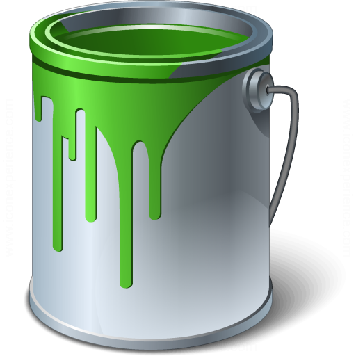 Iconexperience V Collection Paint Bucket Green Icon