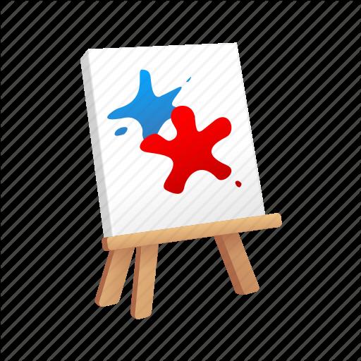 Artist, Canvas, Drawing, Paint, Splatter Icon