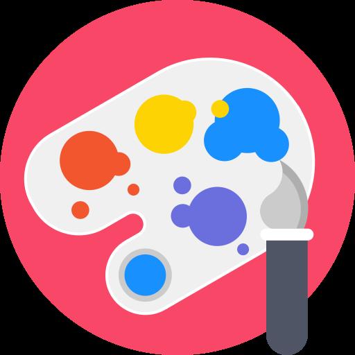 Materials, Artistic, Paint, Palette, Paintbrush, Brush, Art Icon