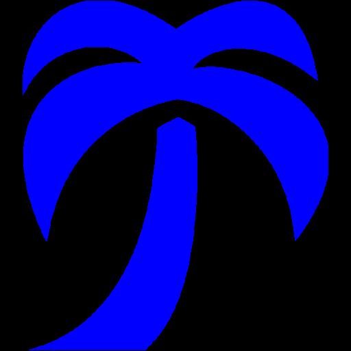 Blue Palm Tree Icon