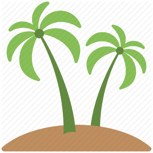 Green Trees, Palm, Palm Trees, Soil, Trees Icon