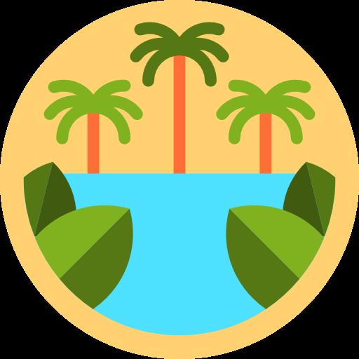 Nature, Landscape, Jungle, Palm Tree Icon