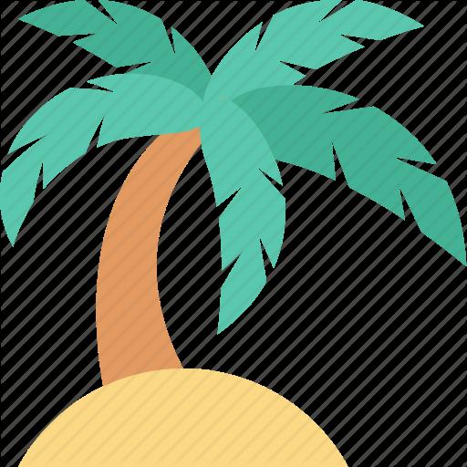 Beach, Coconut Tree, Date Tree, Palm, Palm Tree Icon