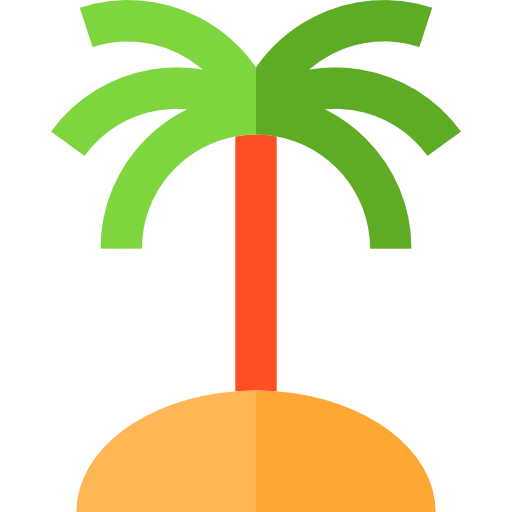 Tree, Island, Forest, Botanical, Nature, Tropical, Palm Tree Icon
