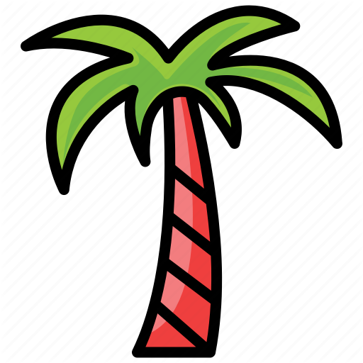 Coconut Tree, Date Tree, Palm Tree, Tree, Tropical Tree Icon