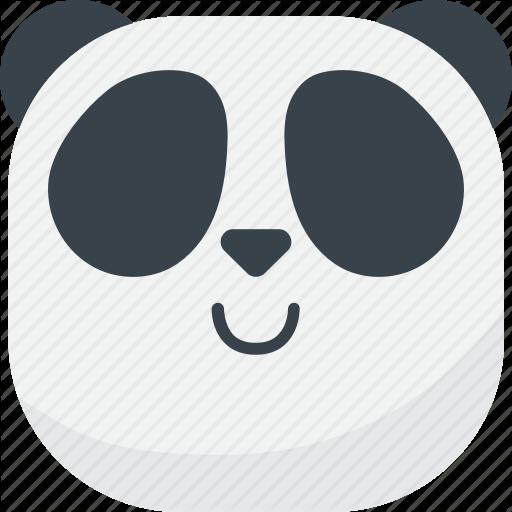 Asian, Emoji, Emoticon, Panda, Smile, Smiley Icon