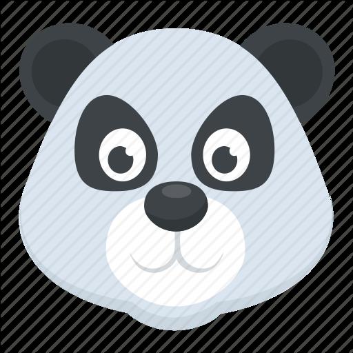 Cartoon Character, Panda Bear, Panda Face, Wildlife, Zoo Animal Icon
