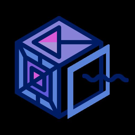 Box, Inkcontober, Pandora, Shattered, Square Icon