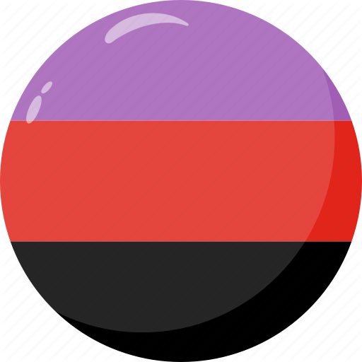 Flag, Gender, Polyamorous, Pride Icon