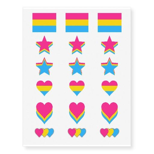 Pansexuality Pride Flags Temporary Tattoos Tattoo Ideas
