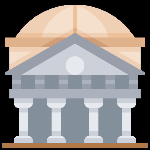 Building, Italy, Landmark, Pantheon Icon Free Of Landmark