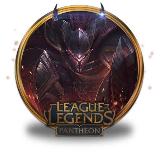 Dragonslayer Pantheon Icon League Of Legends Gold Border Iconset