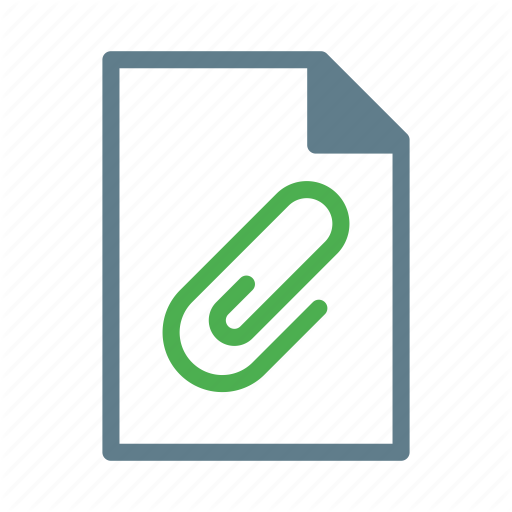 Attchement, Clip, Document, File, Paper Icon
