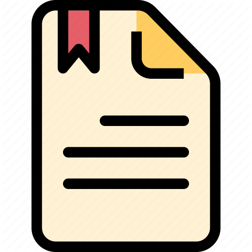 Bookmark, Data, Document, File, Paper Icon