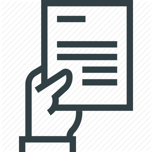 Doc, Document, Hand, Paper Icon