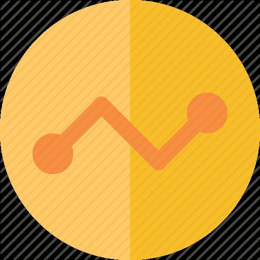 Button, Line Chart Icon