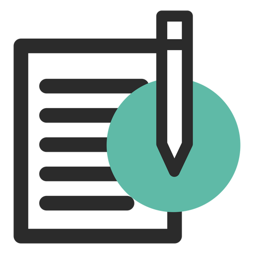 Paper And Pencil Contact Icon