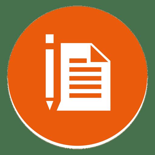 Pen Paper Round Icon