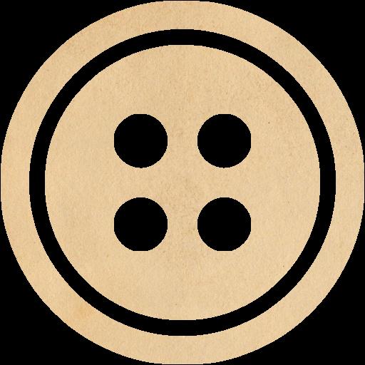 Vintage Paper Button Icon
