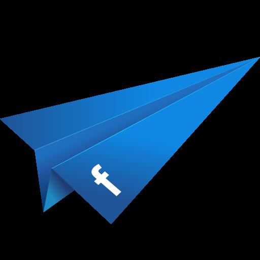 Blue, Facebook, Origami, Paper Plane, Social Media Icon