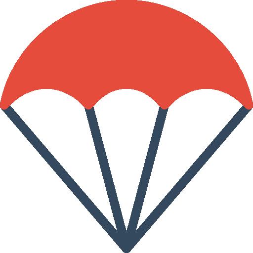 Parachute Icon Sports Smashicons