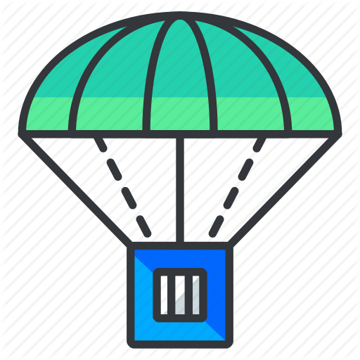 Airdrop, Package, Parachute Icon