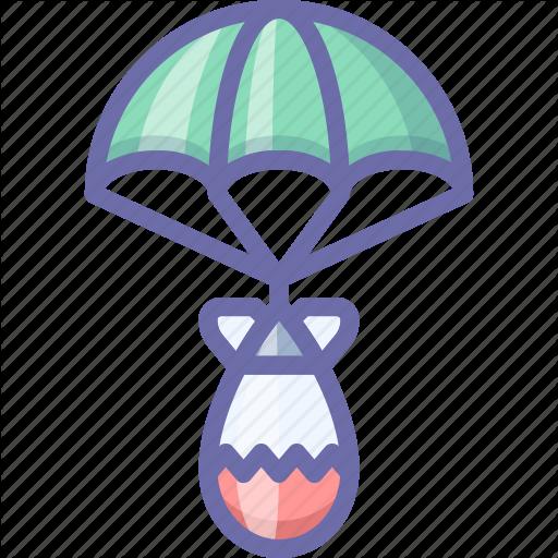 Atomic, Bomb, Parachute Icon