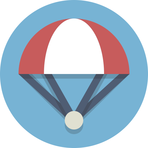 Parachute, Skydiving Icon
